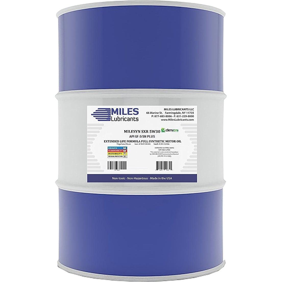 Milesyn SXR 5W30 API GF-5/SN, Dexos1, Full Synthetic Motor Oil, 55-Gallon Drum