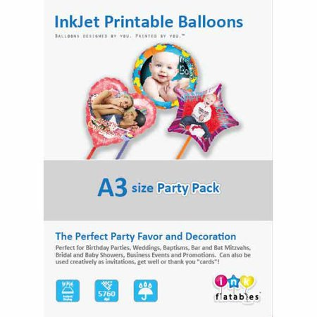 InkFlatables Balloon Professional Starter Pack A3 Size 6-Pack