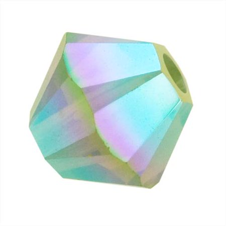 Swarovski Crystal, #5328 Bicone Beads 4mm, 24 Pieces, Pacific Opal AB 2X ()
