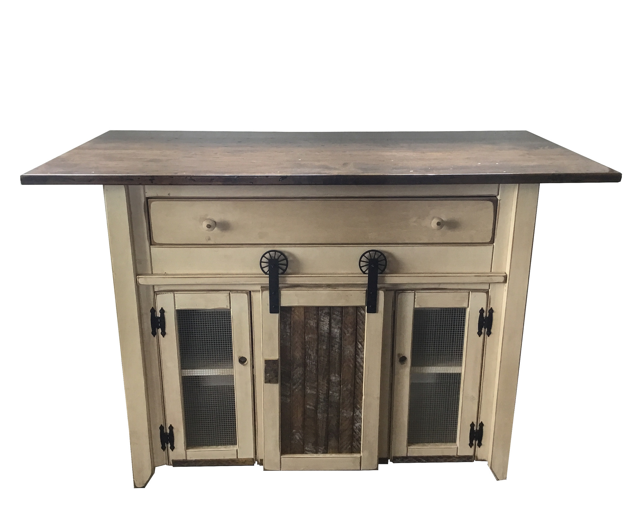 Furniture Barn Usa Primitive Country Kitchen Island With Barn Door