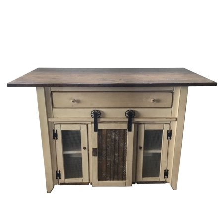Furniture Barn USA™ Primitive Country Kitchen Island with ...