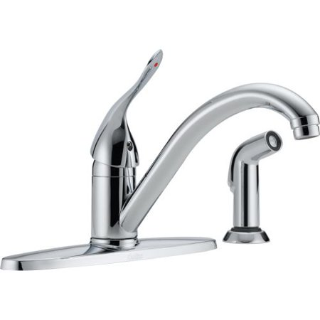 Delta 400LF-HDF Kitchen Faucet with Side Spray and Diamond Seal Technology, Chrome