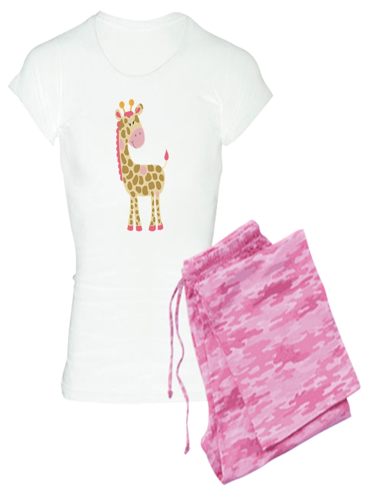 e839b64943 CafePress - Pink Giraffe - Women s Light Pajamas - Walmart.com