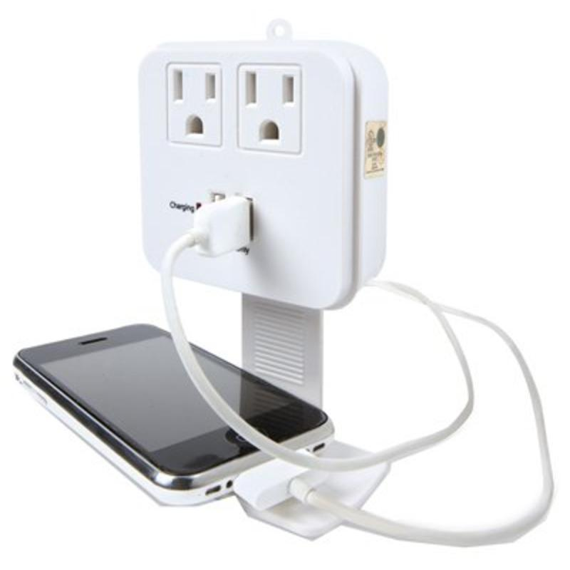 Kab Enterprise CT-023 2-Outlet Surge Tap, With 2 USB Ports, White