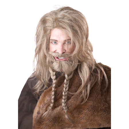 Adult Male Dirty Blonde Viking Wig, Beard, & Moustache  by California Costumes 70774