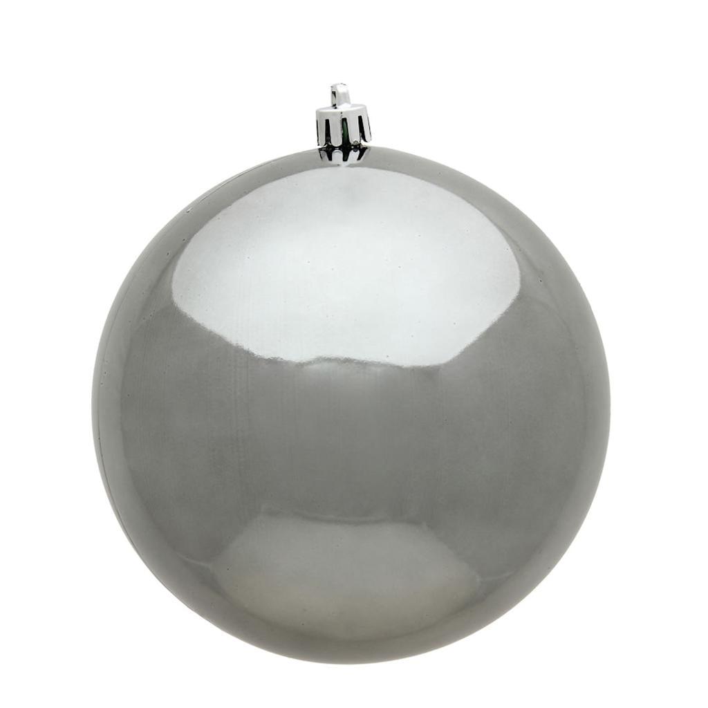 """Vickerman 487075 - 8"""" Pewter Shiny Ball Christmas Christmas Tree Ornament (N592087DSV)"""
