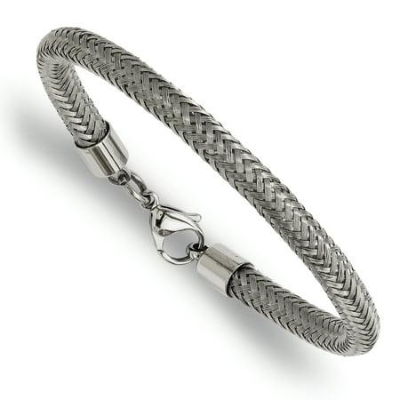 Stainless Steel Wire Bracelet 8in