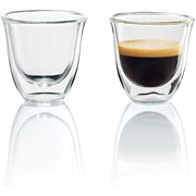 De'Longhi Double Walled Thermo Espresso Glasses, Set of 2