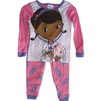 Disney Jr Little Girls Pink Doc McStuffins Heart Print 2 Pc Pajama Set 2T
