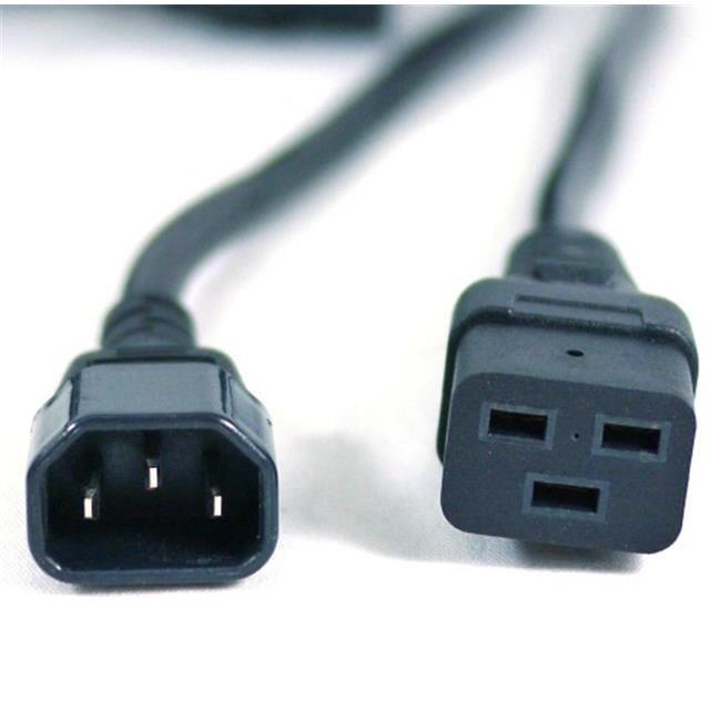 Works 72-100-01 Extra Heavy Duty 14 AWG Power Cord IEC320 C14 Male To IEC320 C19 Female