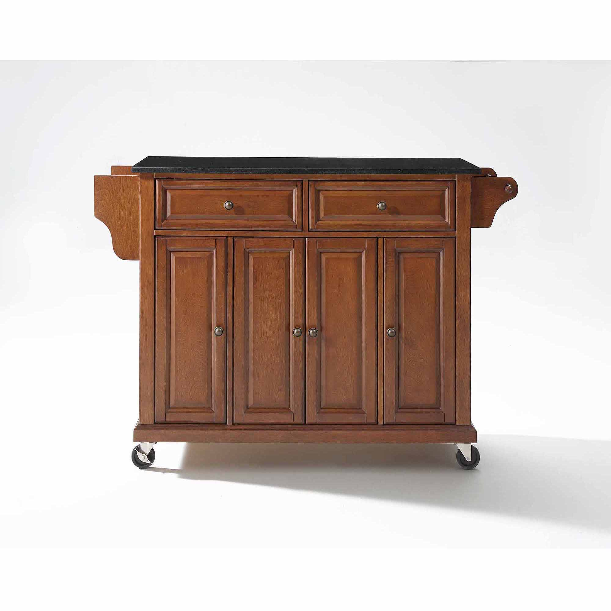 Crosley Kitchen Cart Granite Top Crosley Furniture Solid Black Granite Top Kitchen Cart Walmartcom