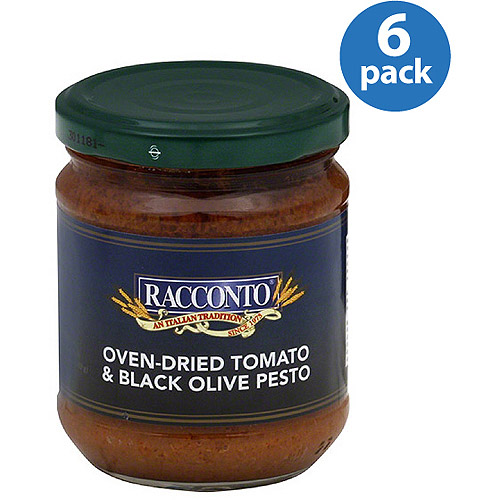 Racconto Oven-Dried Tomato & Black Olive Pesto, 6.3 oz, (Pack of 6)
