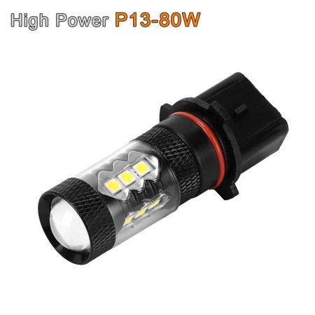 2 x White High Power 80W P13W LED Bulbs For 2010 2011 2012 Chevrolet Camaro Fog Driving Light