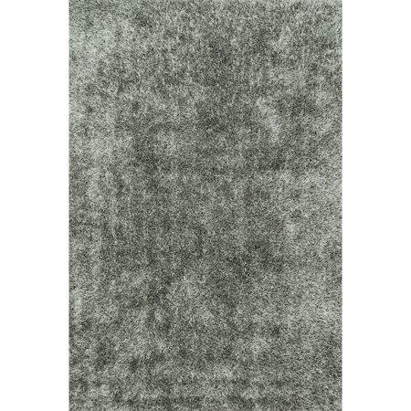 Alexander Home Hand-tufted Steel Grey Shag Area Rug - 5' x 7'6