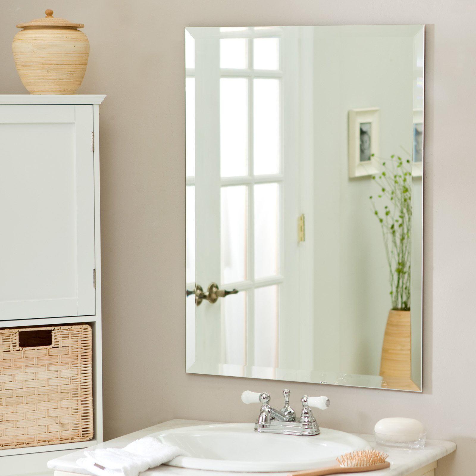 Décor Wonderland Frameless Leona Wall Mirror - 23.5W x 31.5H in. -  Walmart.com
