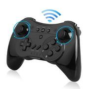 TSV Wireless Wii U Pro Controller Joystick Gamepad for Nintendo Wii U(Black)