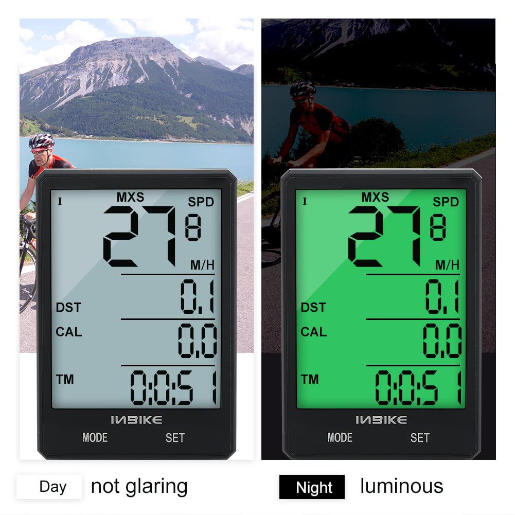 Aramox Multi-Functional Bike Motorbike Computer LCD Luminous Waterproof Odometer Speedometer, Bike Computer,Bike Odometer