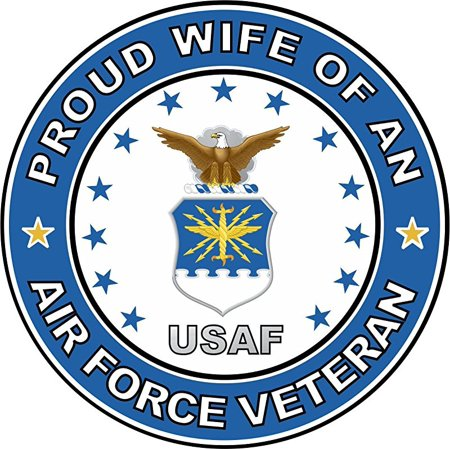 MAGNET US Air Force Veteran Proud WIfe 3.8 Inch Magnetic Sticker Decal
