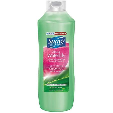 2 Pack - Suave  Essentials Shampoo, Aloe Waterlily 30