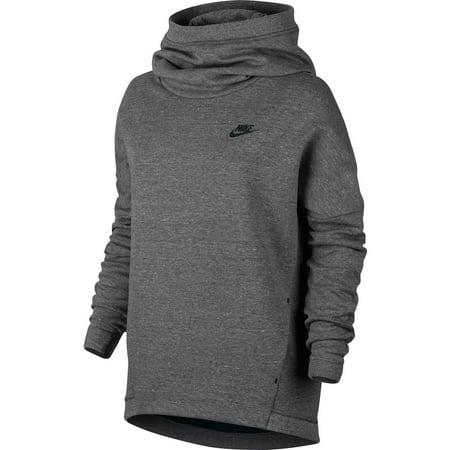 Nike Sportswear Tech Fleece Women's Longsleeve Pullover Hoodie Grey/Black 844389-091