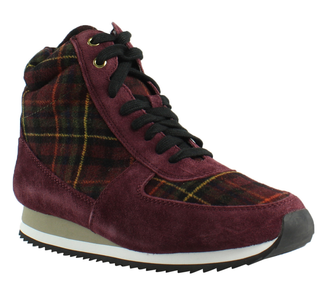 New Bella Vita Womens Enice Burgundy Suede Plaid Flannel Ankle Boots Size 8.5 by Bella Vita