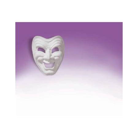 COMEDY MASK-WHITE](Comedy Tragedy Mask)