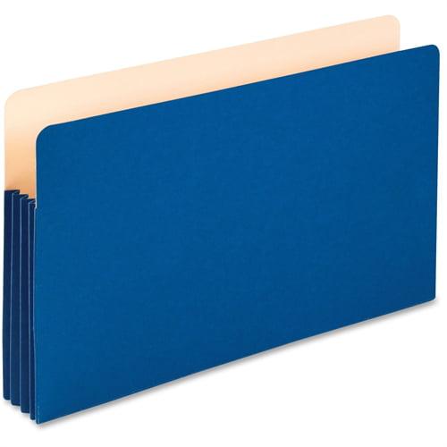 "Pendaflex Colored Expanding File Pocket - 3 1/2"" Folder Capacity - Legal - 8 1/2"" x 14"" Sheet Size - 3 1/2"" Expansion - Manila - Blue - 1 Each"