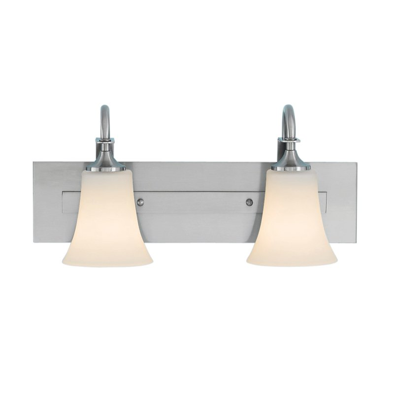 Feiss Barrington Bathroom Wall Light 18W in. Brushed Steel by Murray Feiss