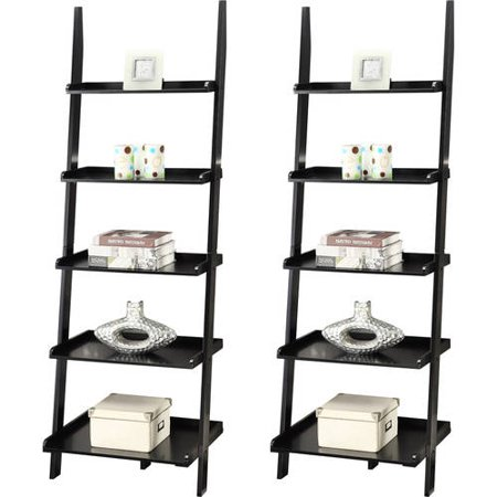 Convenience Concepts American Heritage 5-Shelf Ladder Bookcase, Set of 2, (Mix and - American Spirit Bookcase