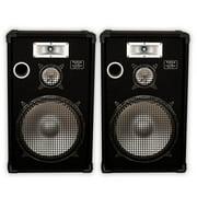 """Podium Pro E1525 Deluxe Passive 15"""" Speaker Pair 1200W DJ PA Karaoke E1525-PR"""