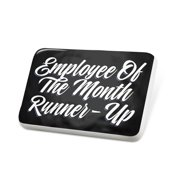 Porcelein Pin Classic design Employee Of The Month Runner-Up Lapel Badge – NEONBLOND