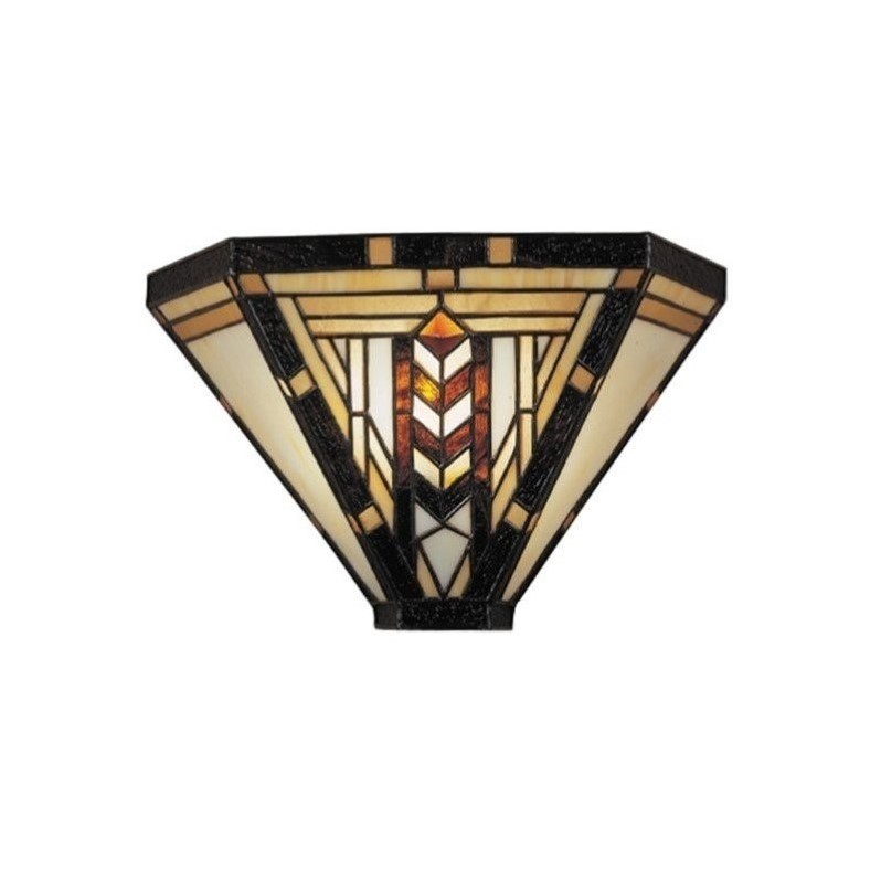 """Dale Tiffany TW100888 10"""" Stained Glass / Tiffany One Light Wall Sconce from the"""