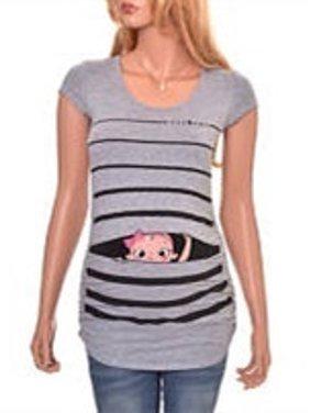 Short Sleeved Slim T-shirt Summer Maternity Tops