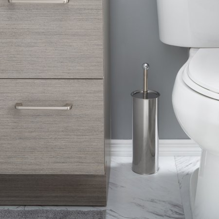 Bath Bliss Toilet Brush Set, Mirror Finish