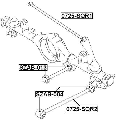 Febest Szab 013 Arm Bushing For Lateral Control Arm Suzuki Grand