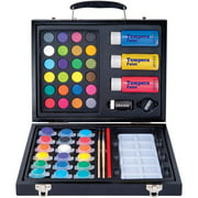 Art 101 52-Piece Deluxe Art and Washable Paint Set in Wood Case