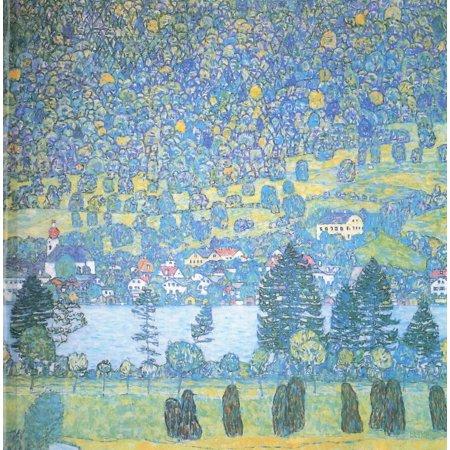 Hillside Framed (Framed Art for Your Wall Klimt, Gustav - Forest hillside in Unterach 10 x 13)