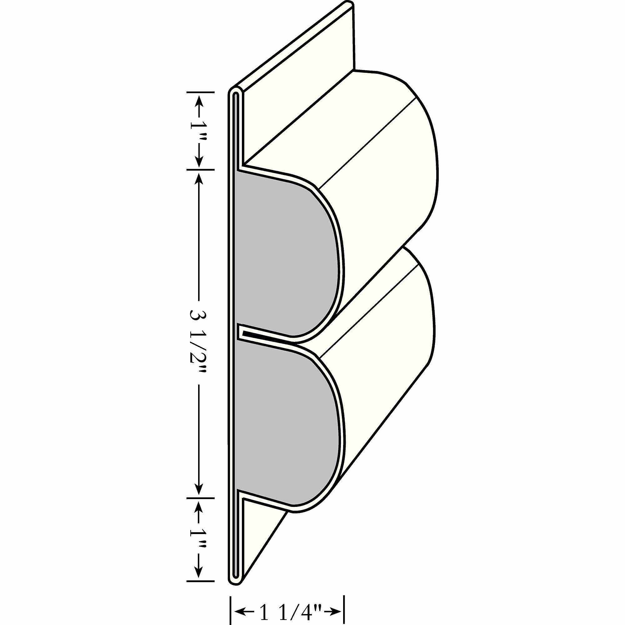 "Taylor Perimeter Double Lock and Post Bumper, Small 5-1/2"" x 1-1/4""D"