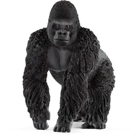 Male Gorilla Toy Figure, Black - Gorilla Toys