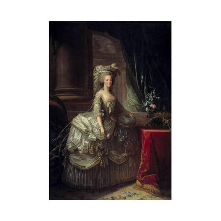 Portrait of Queen Marie Antoinette by Elisabeth Vigee-Lebrun Print Wall Art