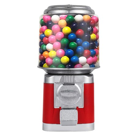 BestEquip Candy Gumball Dispenser All Metal Outside Construction Candy Gumball Bulk Vending Machine 10 lbs Candy capacity Quarter Vending Machine (Gumball Machine Rings)