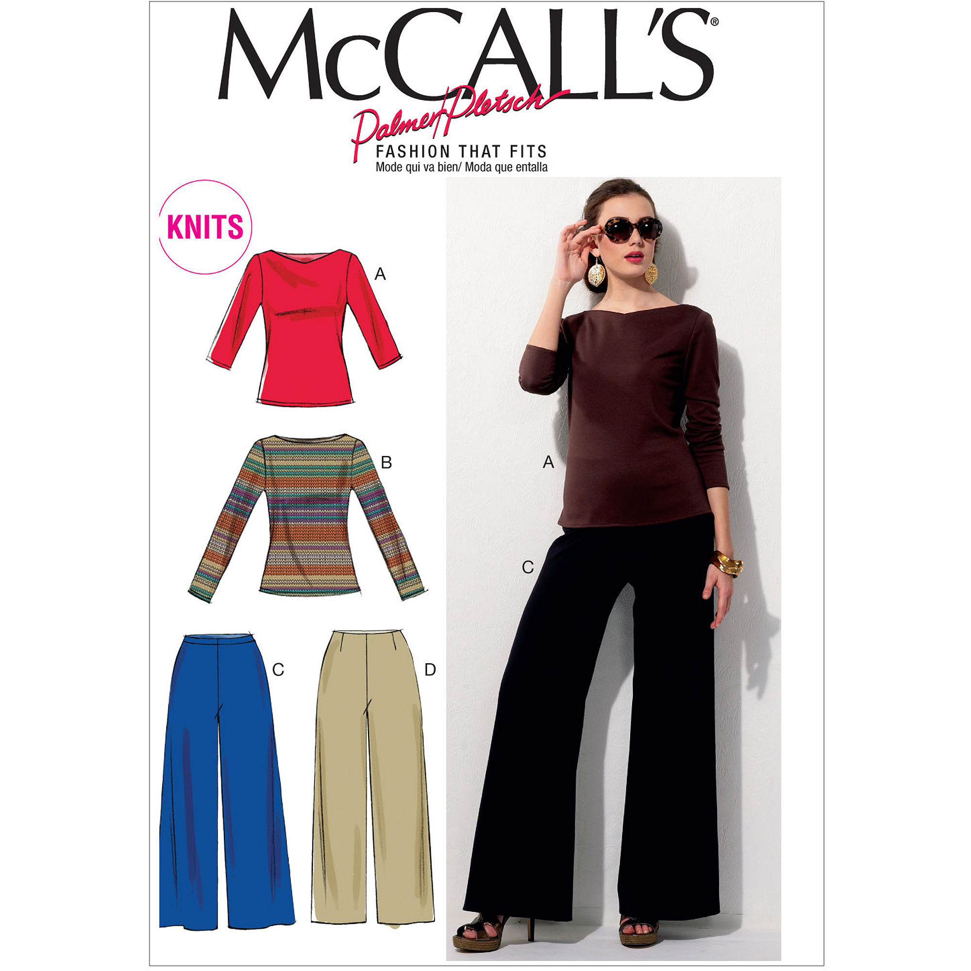 McCall's Pattern Misses' Tops and Pants, E5 (14, 16, 18, 20, 22)