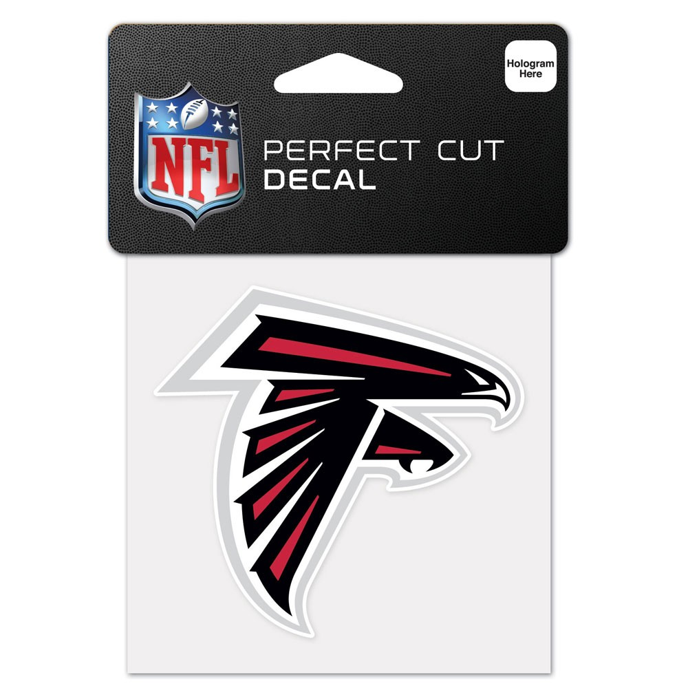 Atlanta Falcons Official NFL 4 inch x 4 inch  Die Cut Car Decal by Wincraft