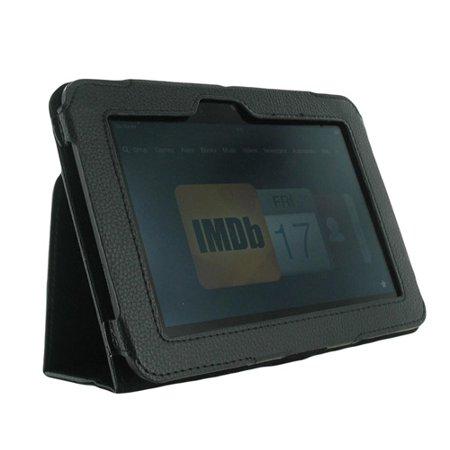 Unlimited Cellular Leather Flip Book Case Folio For Kindle Fire Hd 7    2012 Version    Black