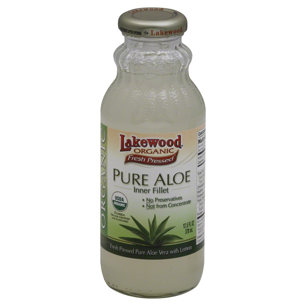 Lakewood Organic Pure Aloe Juice, 12.5 Fluid Ounce