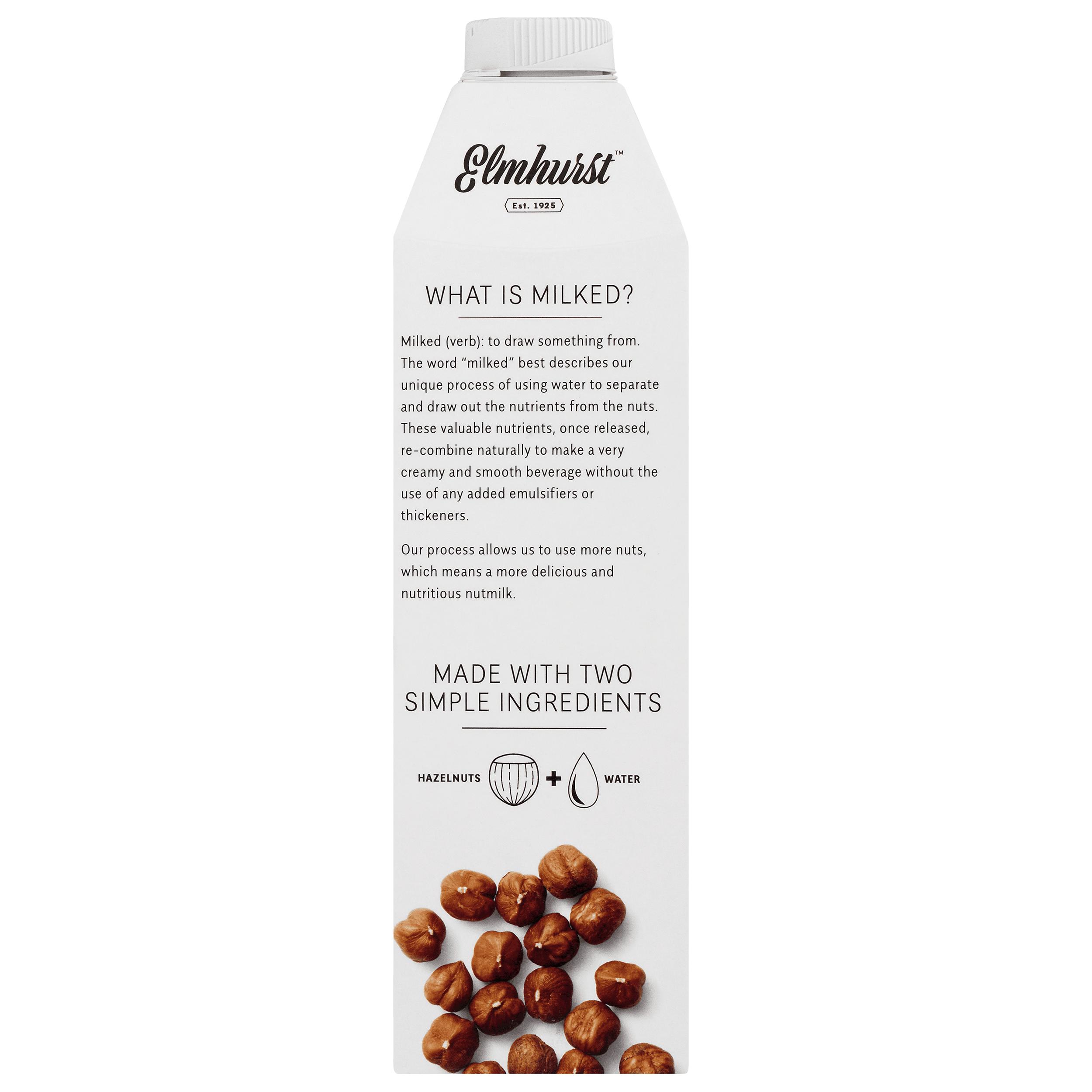 Elmhurst Milked Unsweetened Hazelnuts   32 Oz Non Dairy Hazelnut Milk    Walmart.com