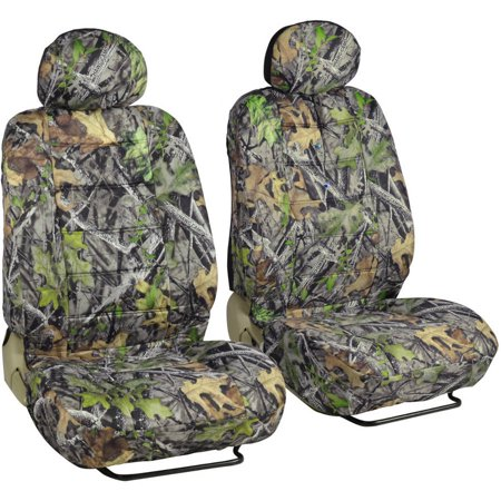 BDK Camo Durable Front Car Seat Covers, Side Airbag and Armrest Compatible