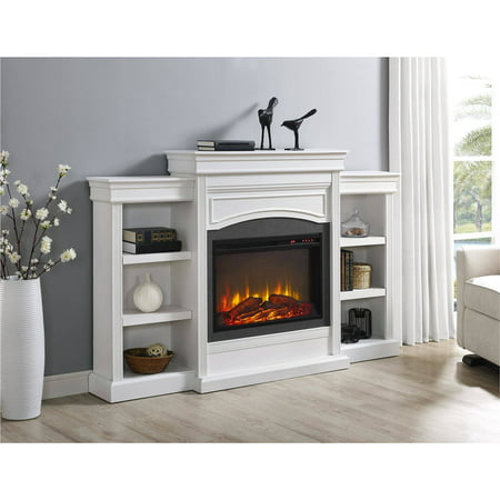 Ameriwood Home Lamont Mantel Fireplace, (Antique White Fireplace)