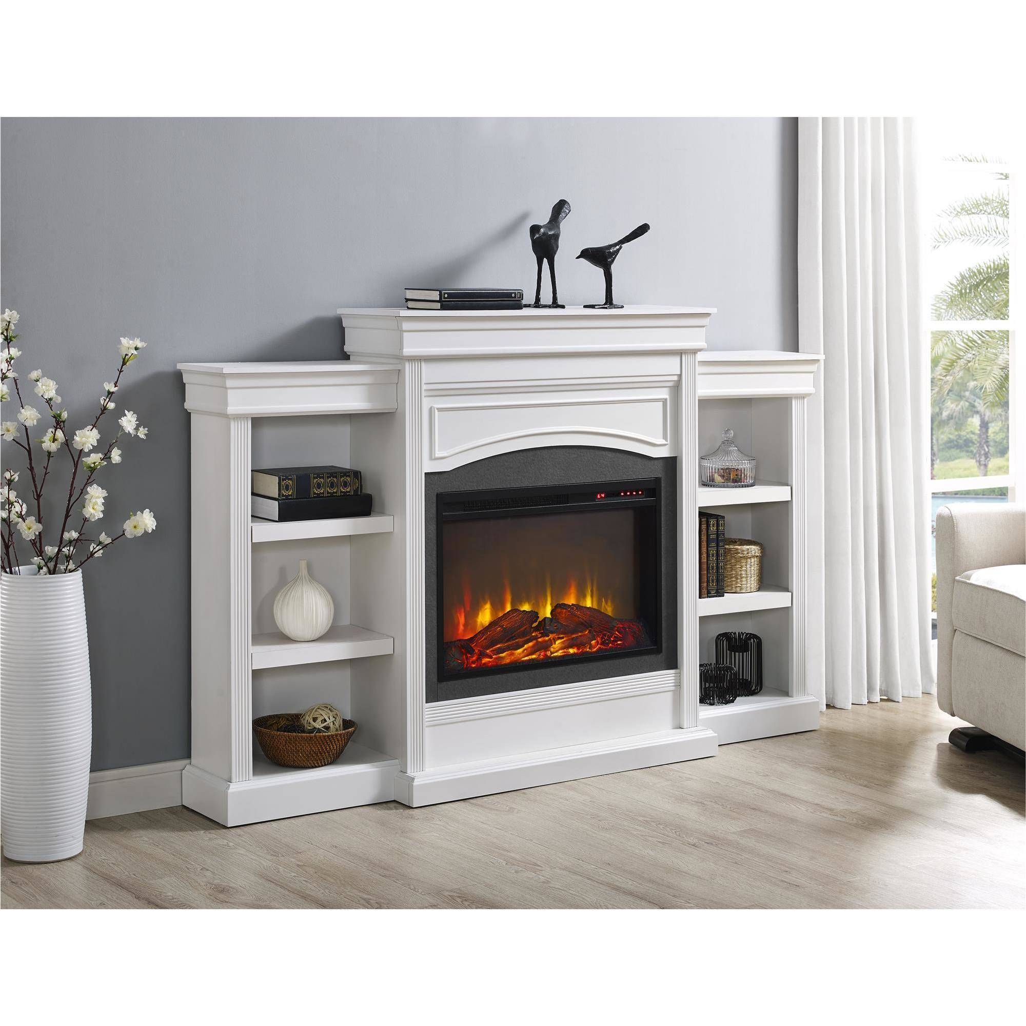 Ameriwood Home Lamont Mantel Fireplace, White