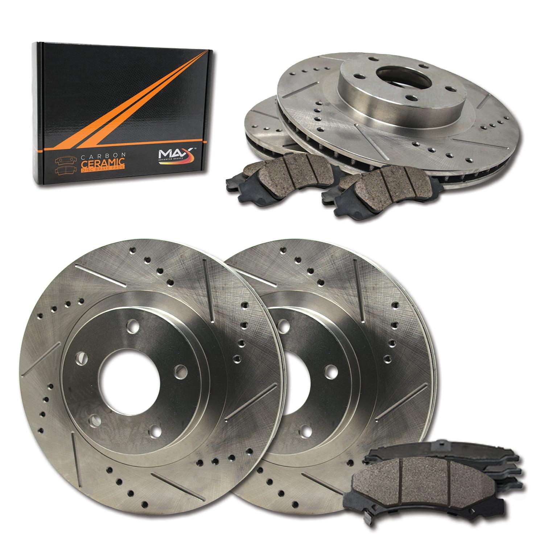 KM163942 Max Brakes Rear Supreme Brake Kit OE Series Rotors + Ceramic Pads Fits: 2008 08 Audi A4 w//288m Rear Rotors Diameter